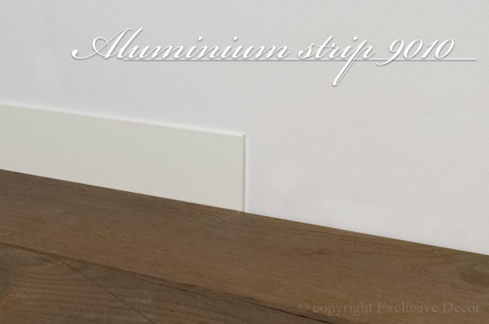 Aluminium strip wit