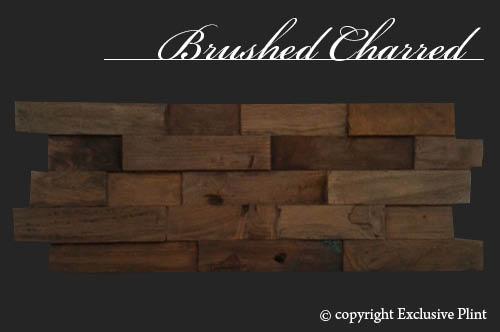 Hout wandpaneel Brushed Charred