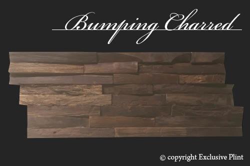 Hout wandpaneel Bumping Charred