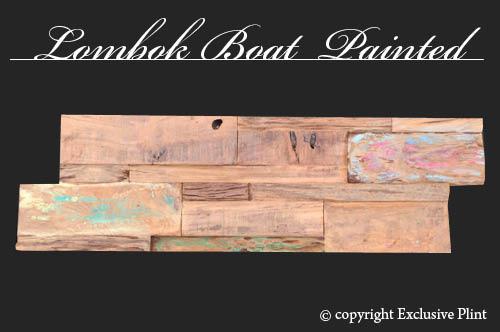Hout wandpaneel Lombok Boat Painted