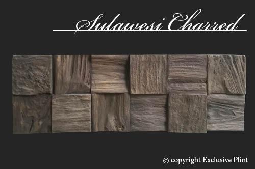 Hout wandpaneel Sulawesi Charred